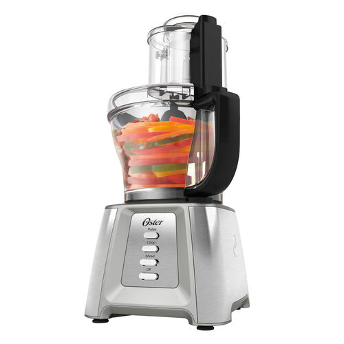Oster® Inspire™ 14 Cup Stainless Steel Food Processor with 5 Cup Mini Chopper