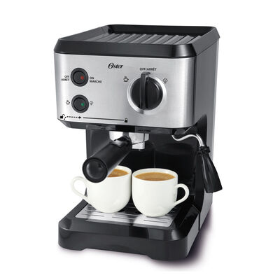 Oster® 15-Bar Pump Espresso, Cappuccino, & Latte Machine, Stainless Steel