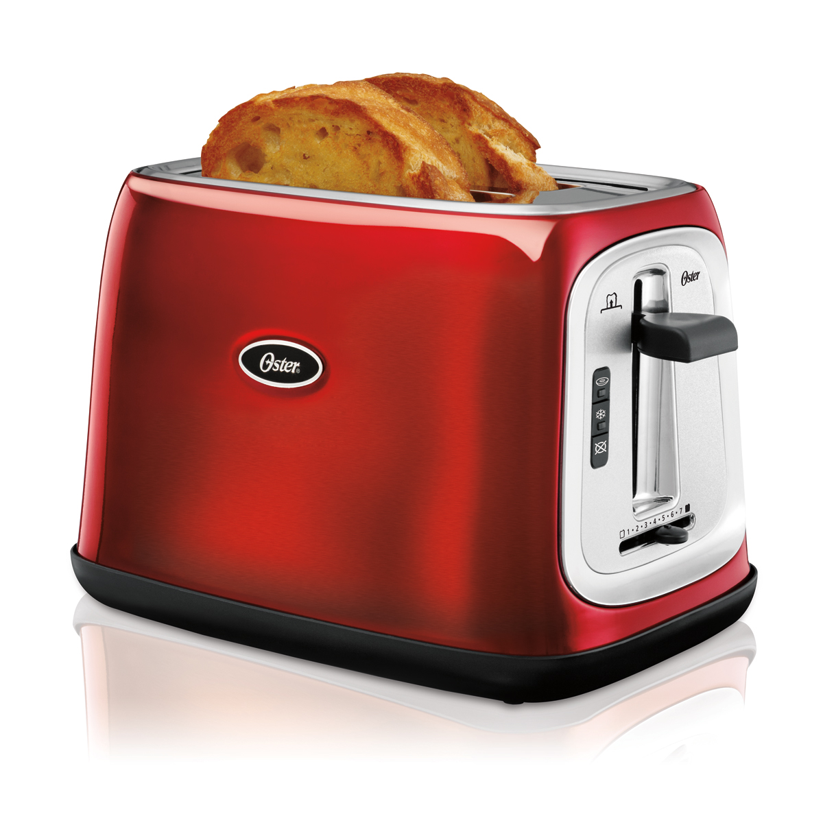 Oster 174 2 Slice Extra Wide Slot Toaster Metallic Red