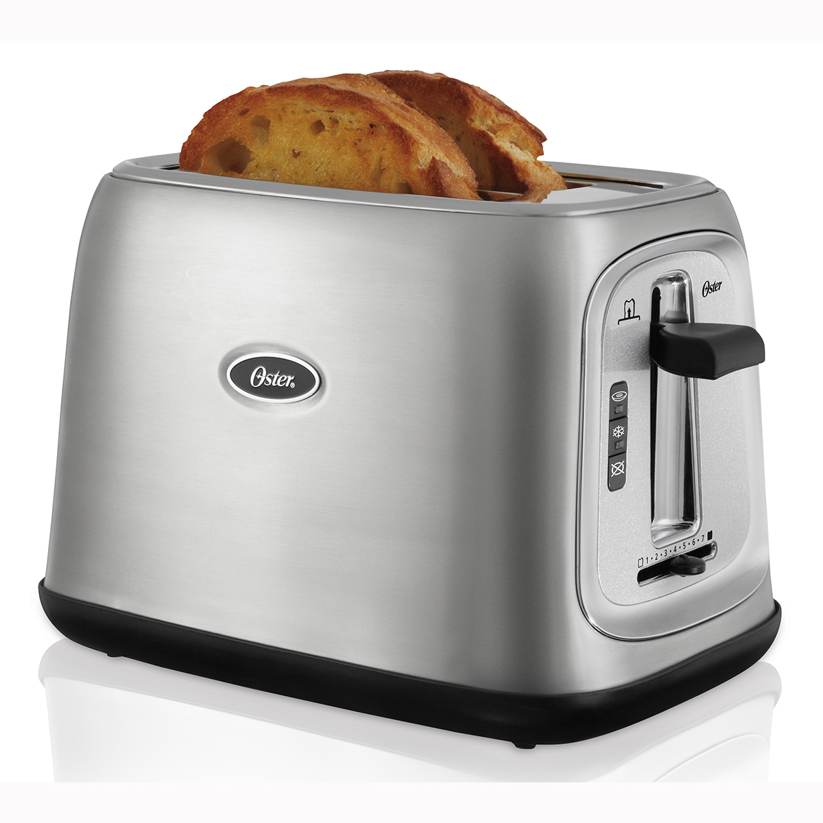 Oster 2 Slice Extra Wide Slot Toaster Stainless Steel