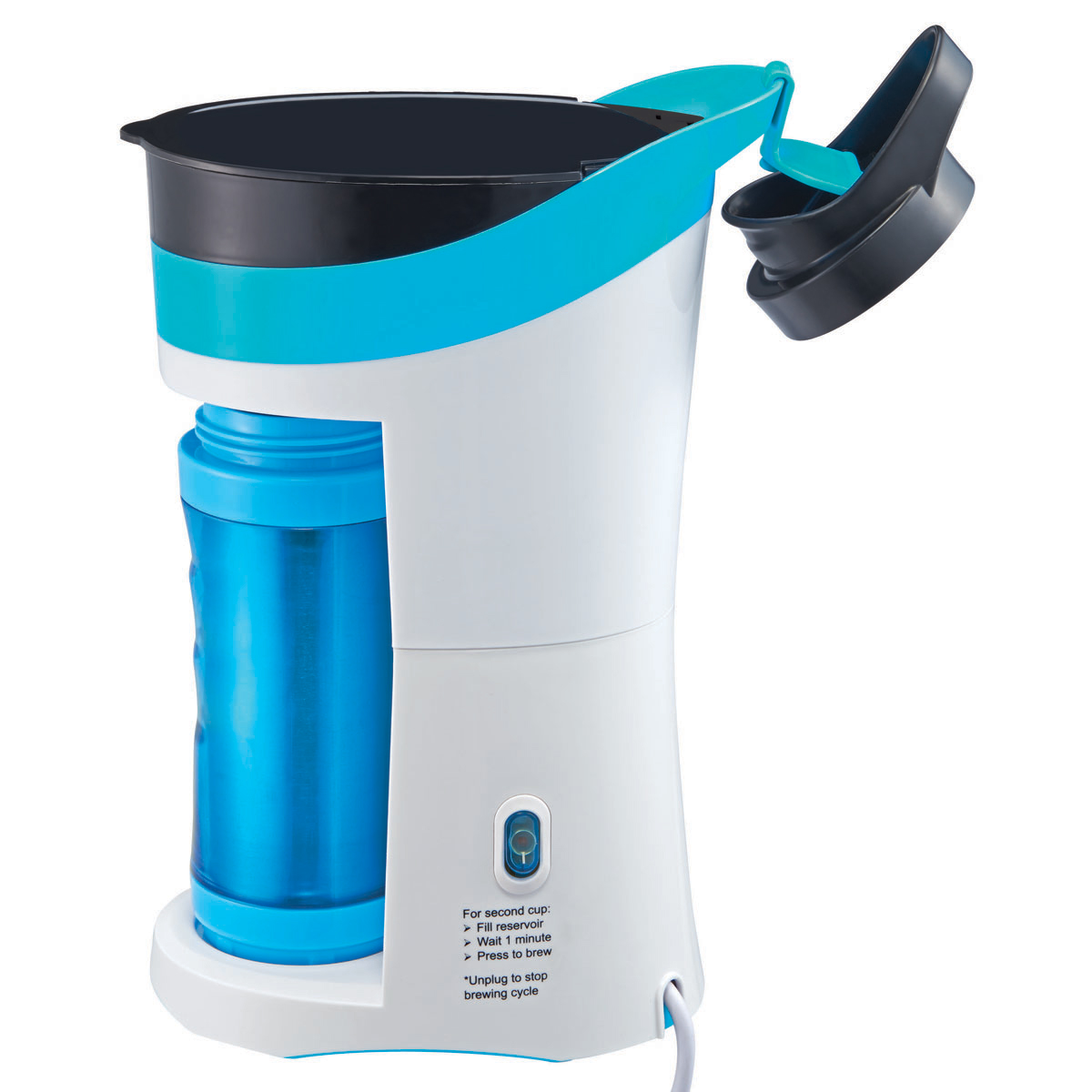 Oster Coffee Maker Delay Brew : Oster Pour! Brew! Go! Single Cup Coffee Maker, Blue BVSTMYBB-31LD Oster Canada