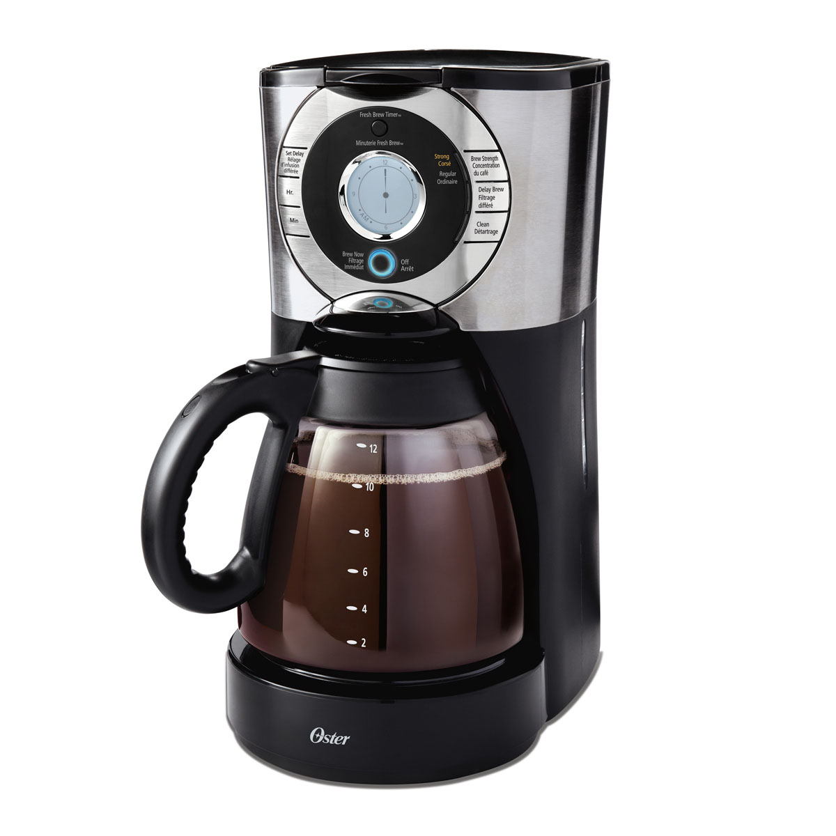 Fix Oster Coffee Maker : Oster 12-Cup Programmable Coffee Maker, Stainless Steel BVSTEJX33-033 Oster Canada