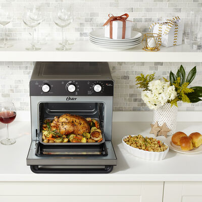 Oster Countertop Oven with Air Fryer, Black