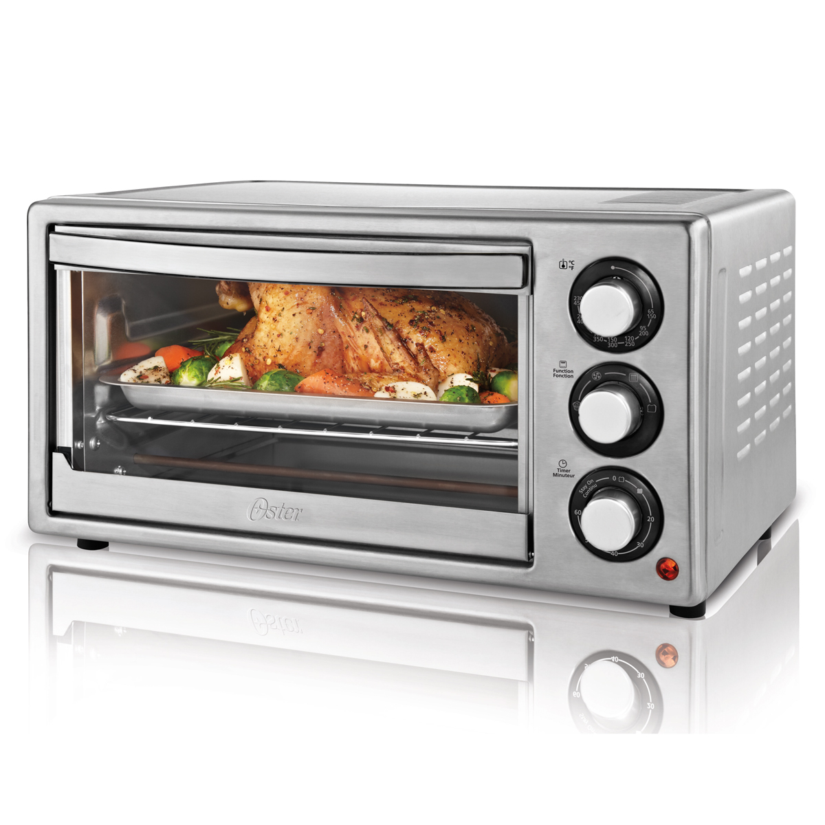 countertop convection oven oster 174 6 slice convection countertop oven stainless steel 13078