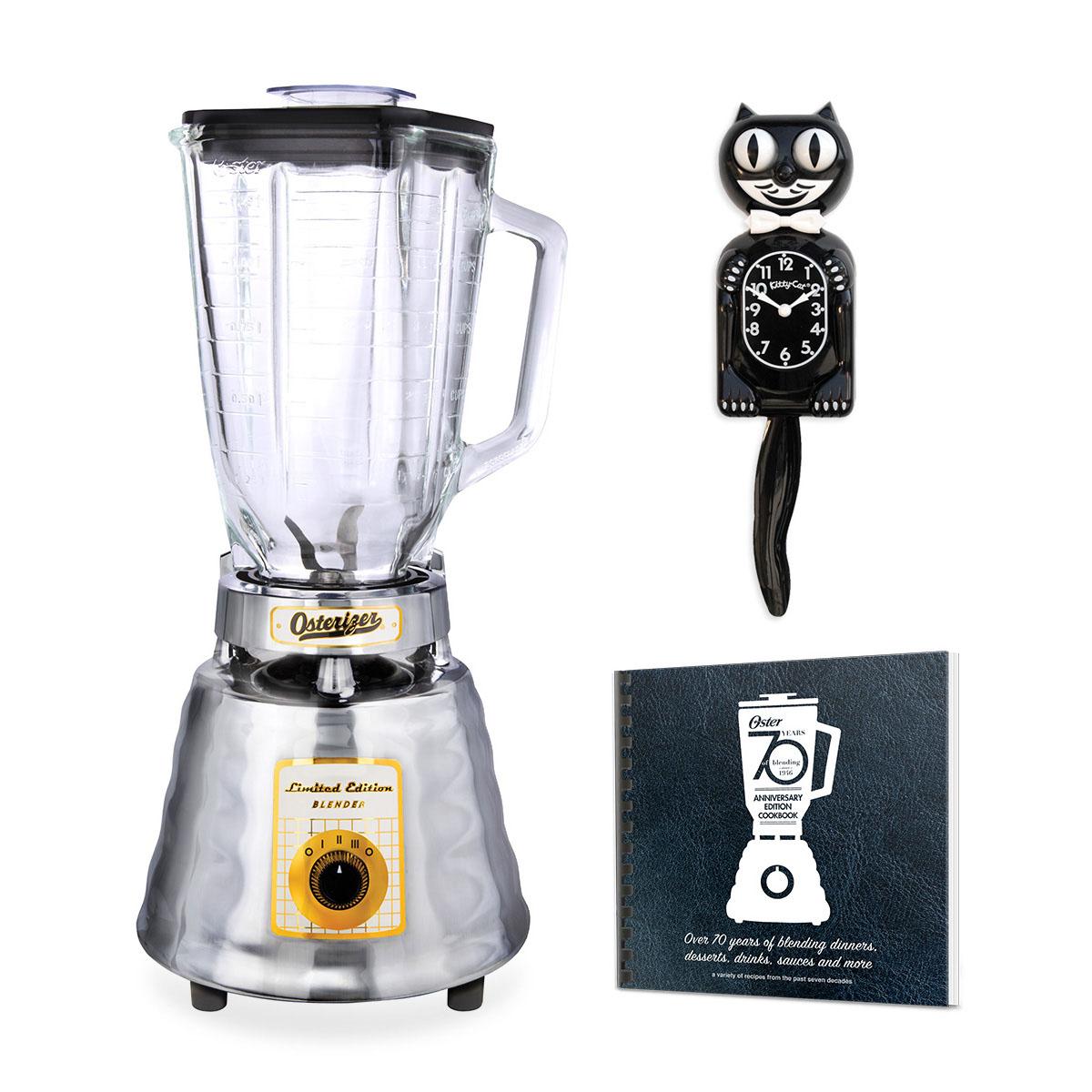 Oster® Anniversary Edition Blender with Bonus Recipe Book & Classic Black  Kit-Cat Clock