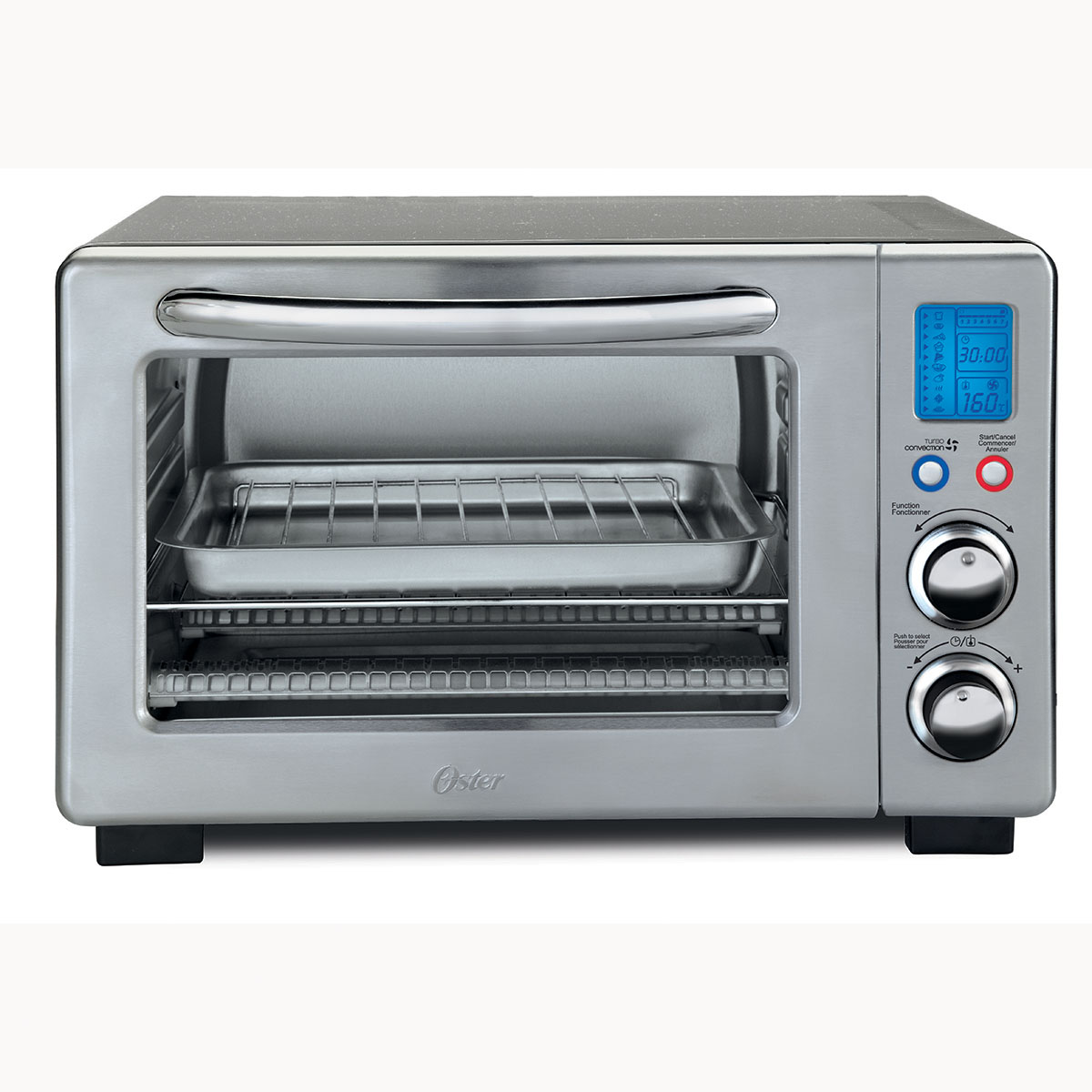 countertop convection oven oster 174 6 slice digital countertop oven with convection 13078