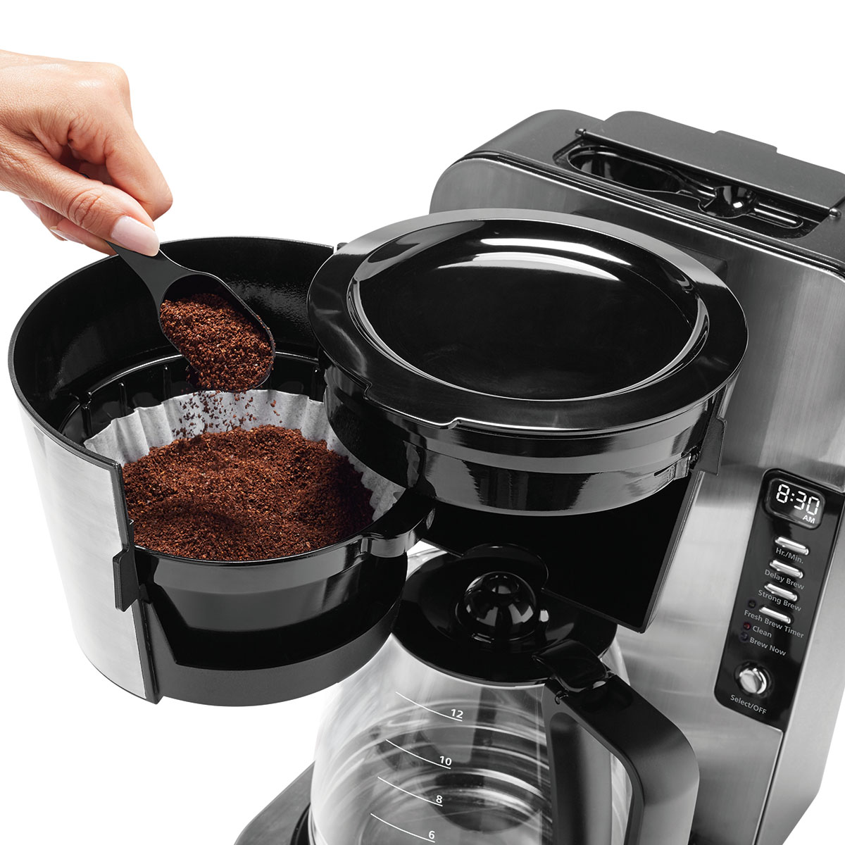Oster 174 12 Cup Programmable Coffee Maker Stainless Steel
