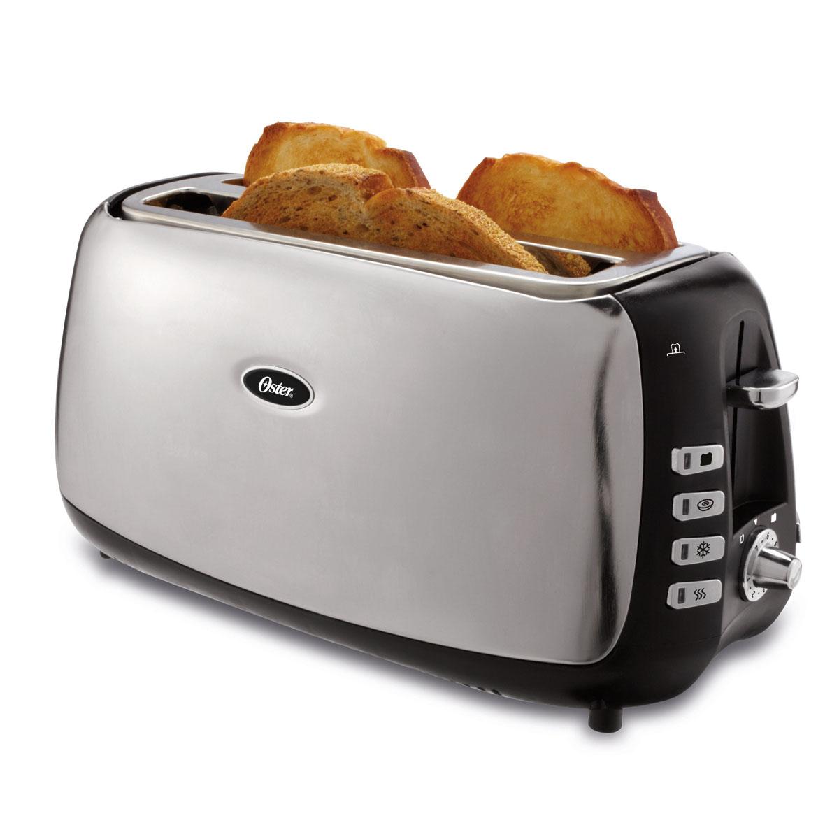 oster 4 slice long slot toaster tsstjcps01 033 oster. Black Bedroom Furniture Sets. Home Design Ideas